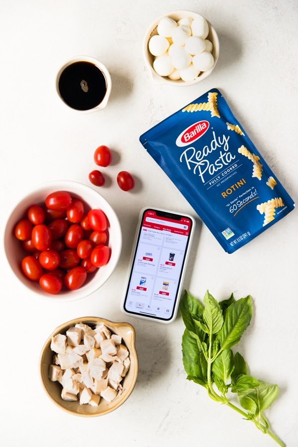 ingredients needed to make Chicken Caprese Pasta