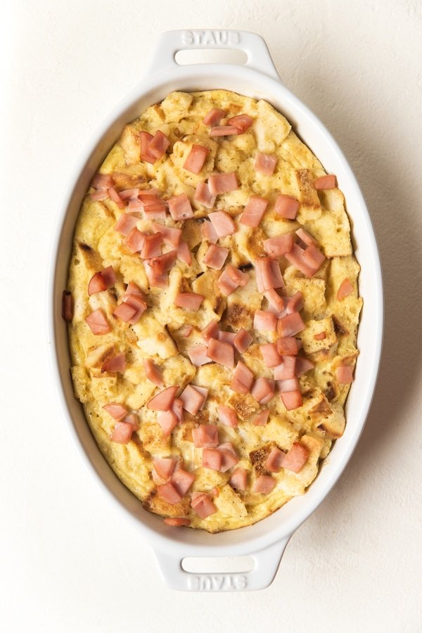 baked eggs benedict casserole