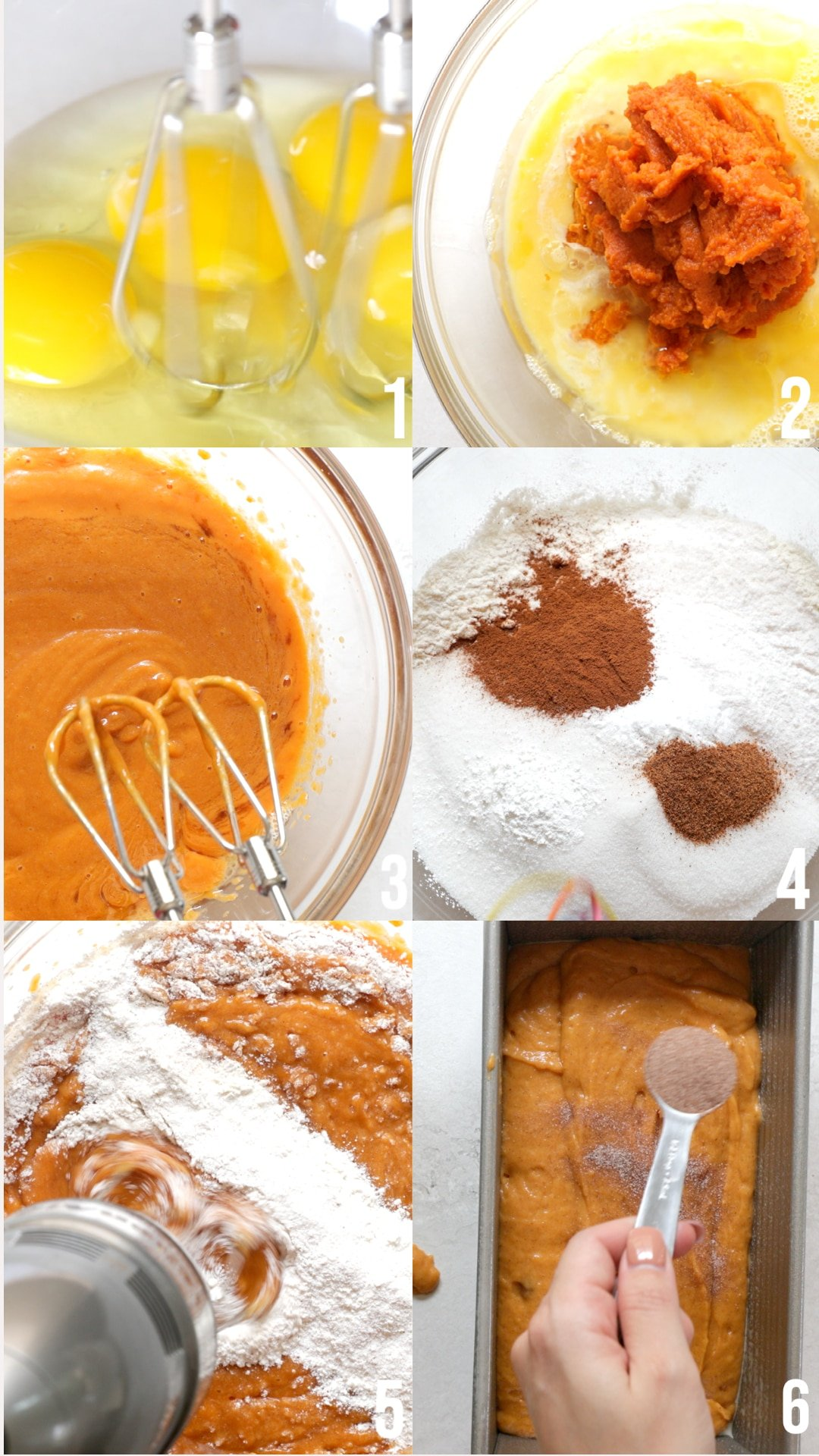 step by step photos of how to make pumpkin bread