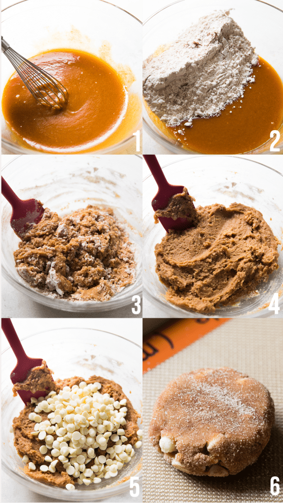 step by step photos of how to make pumpkin cookies