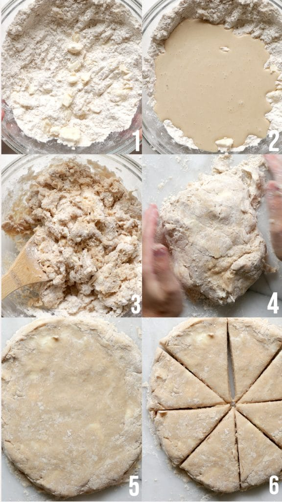step by step of making scones