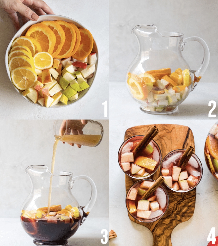 steps on how to make sangria