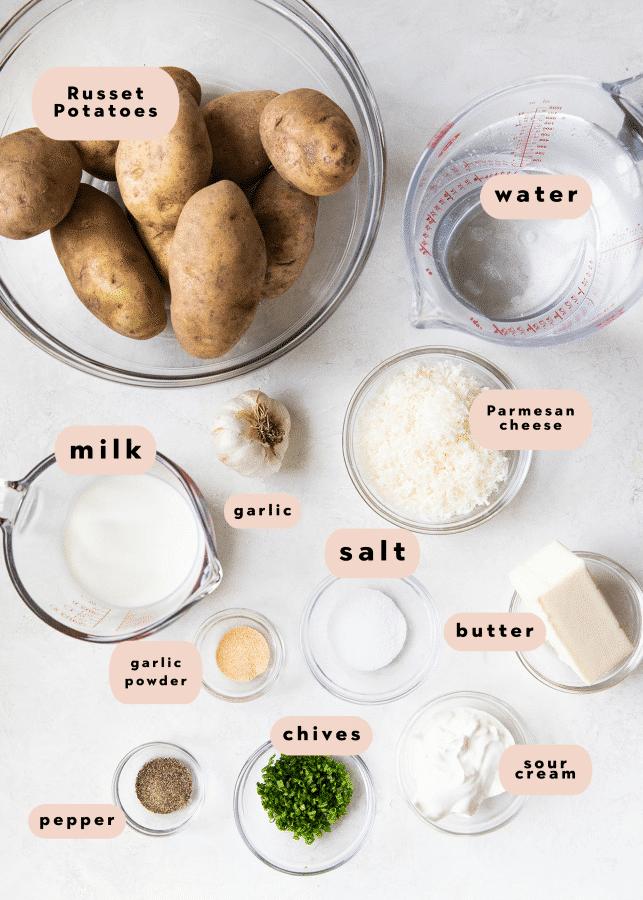 ingredients needed to make mashed potatoes