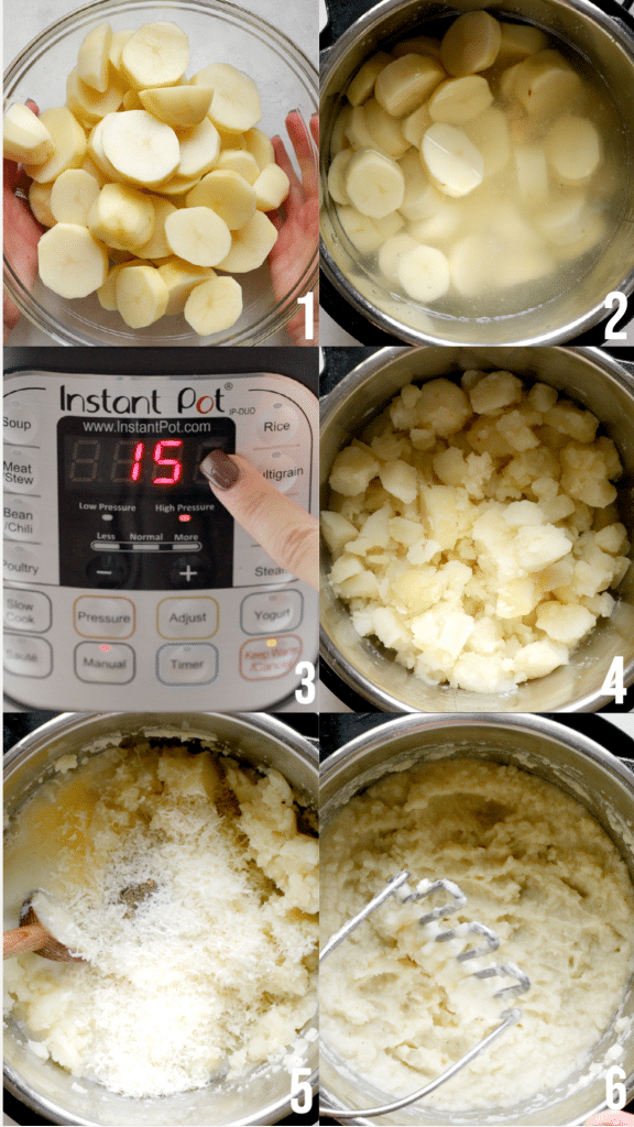 step by step photos of making instant pot potatoes