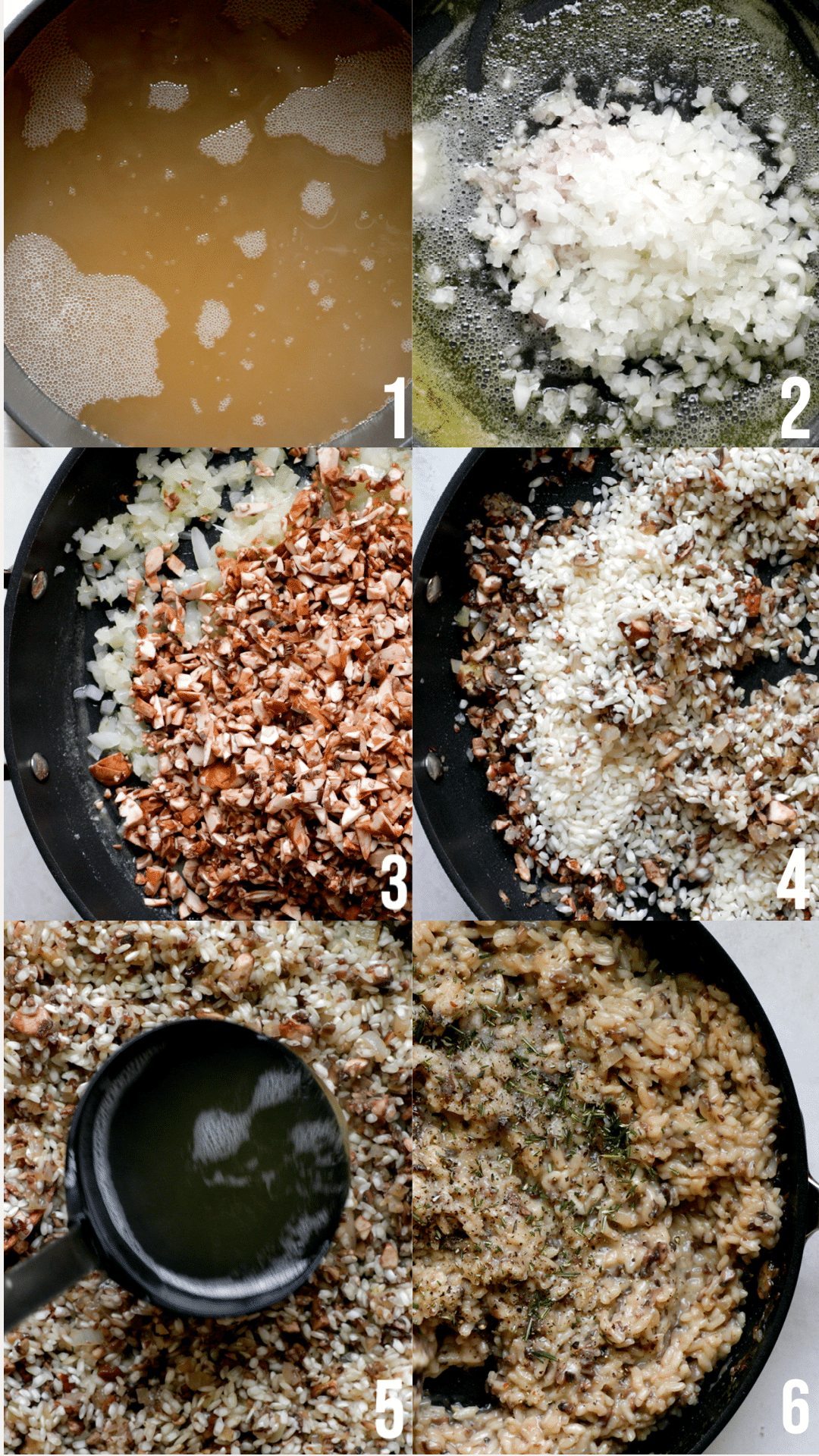 step by step photos of making risotto