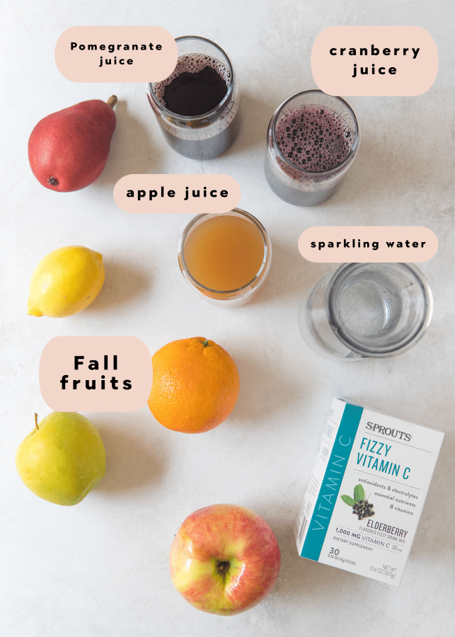 ingredients you need to make Fall sangria
