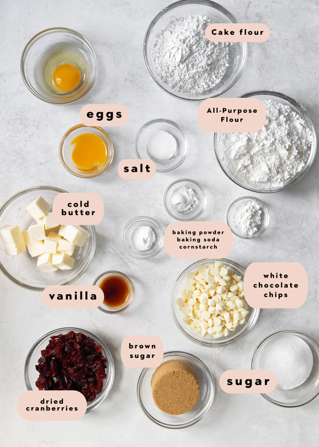 ingredients needed to make cookies