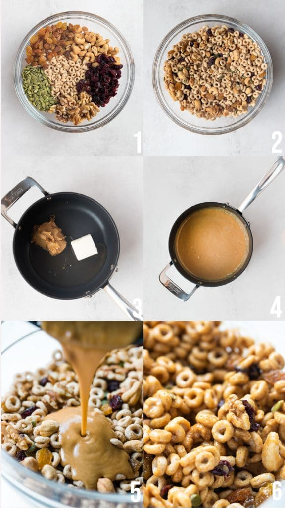 photos of how to make cheerio trail mix