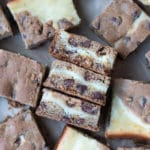 cheesecake cookie bars cut into squares
