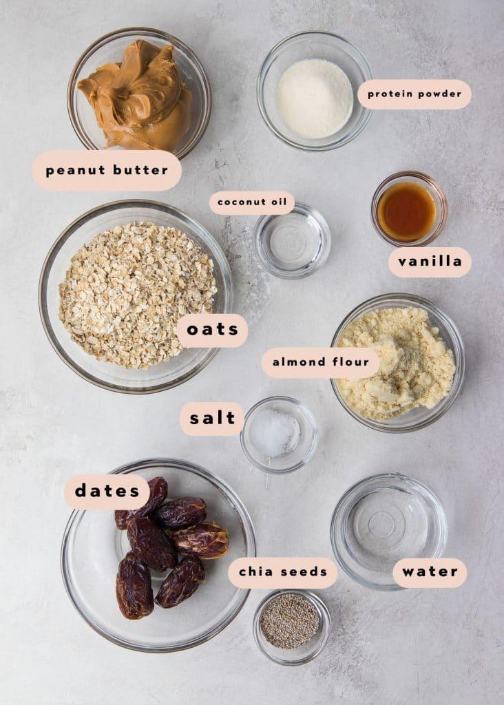 ingredients to make energy balls