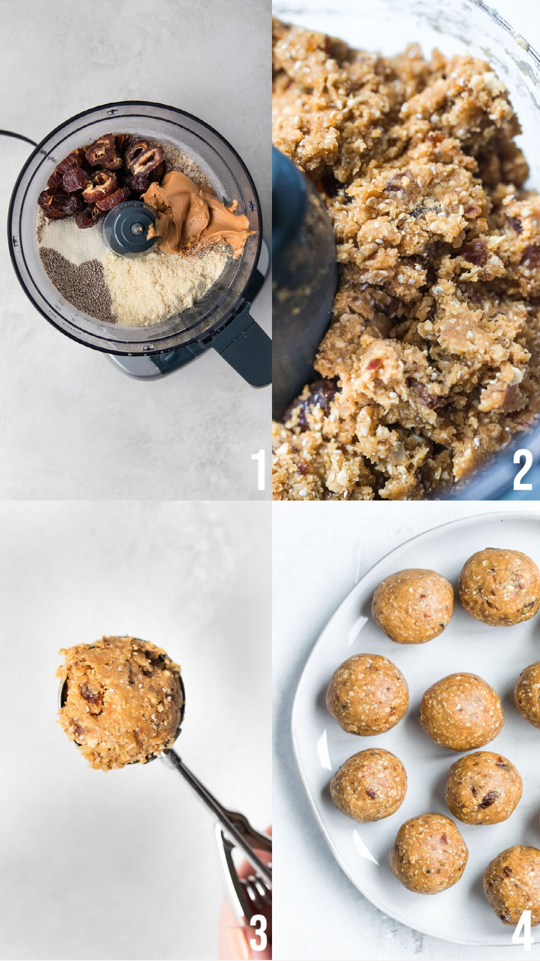 step by step photos of how to make energy bites