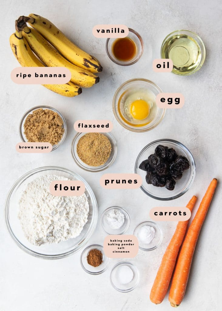 ingredients to make muffins