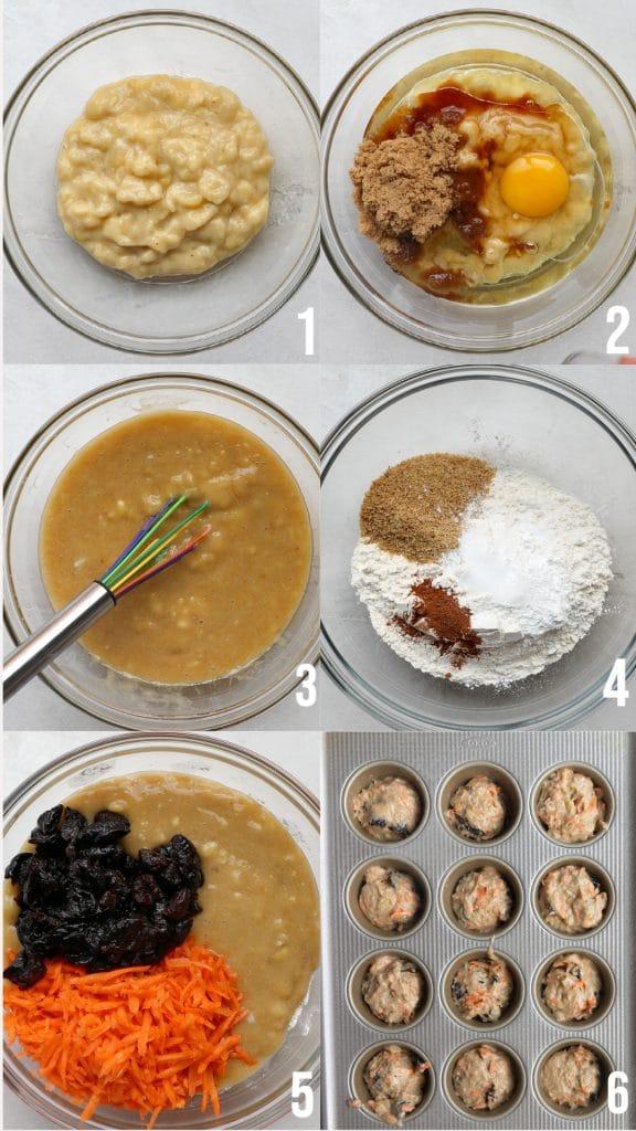 steps to make banana muffins
