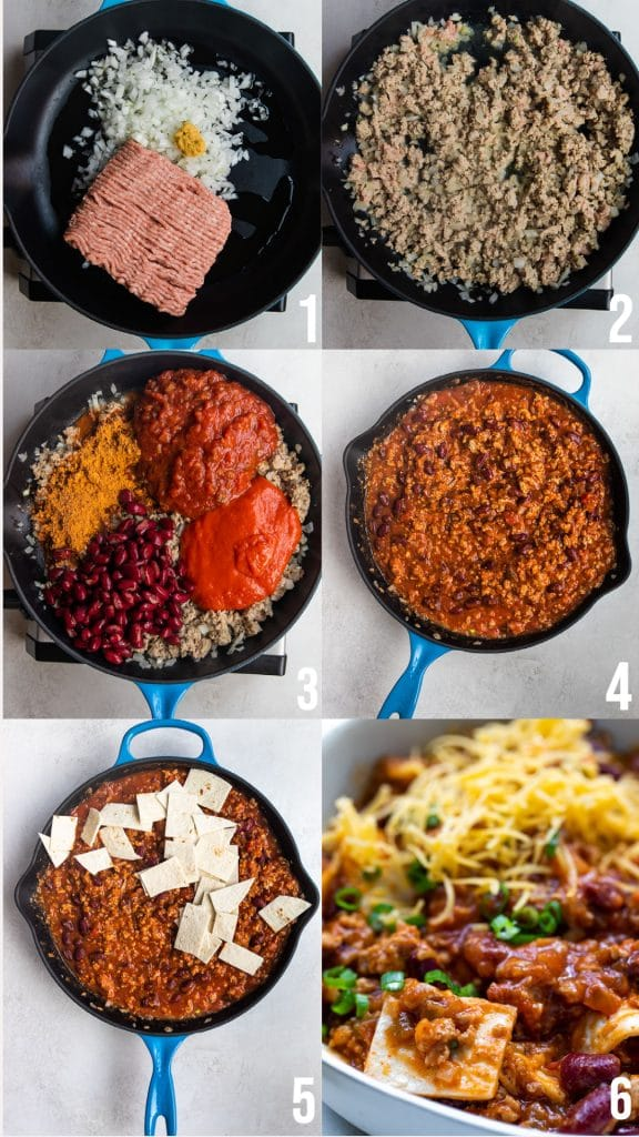 step by step photos of how to make taco skillet
