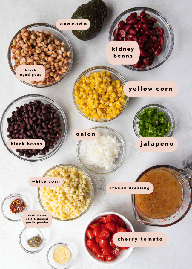 ingredients needed to make cowboy caviar dip