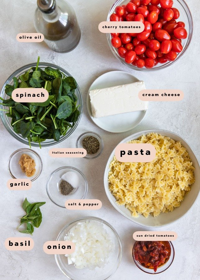 ingredients needed to make a pasta bake
