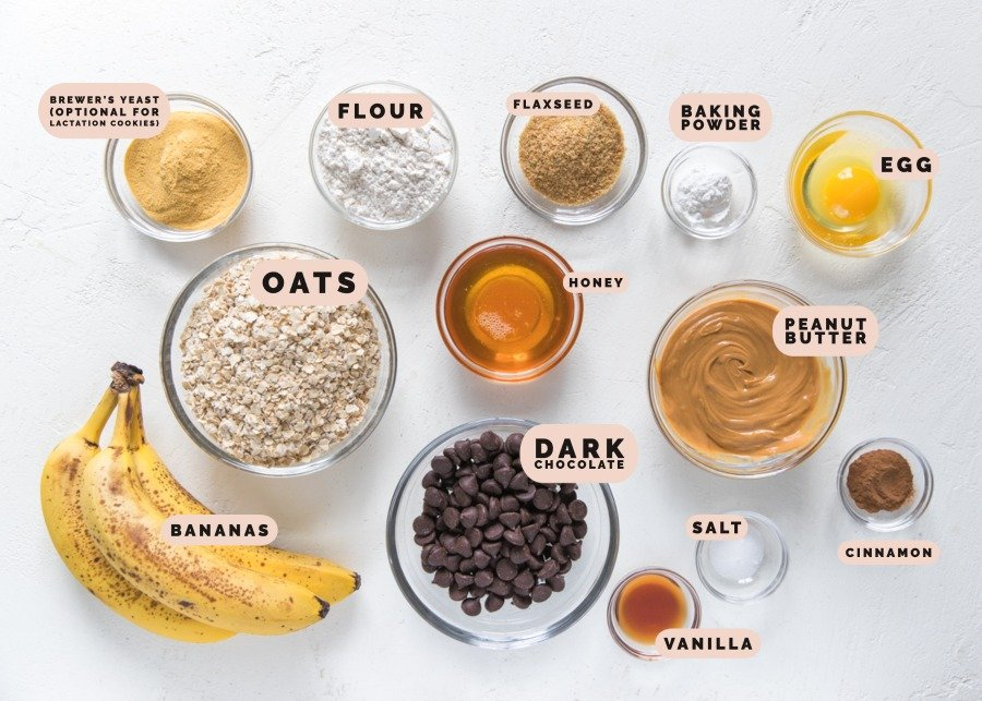 ingredients needed for oatmeal cookies