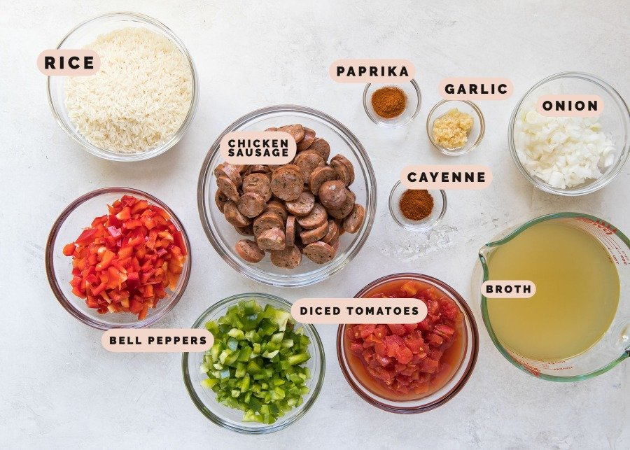 ingredients needed for rice skillet
