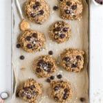 breakfast cookies on a baking sheet