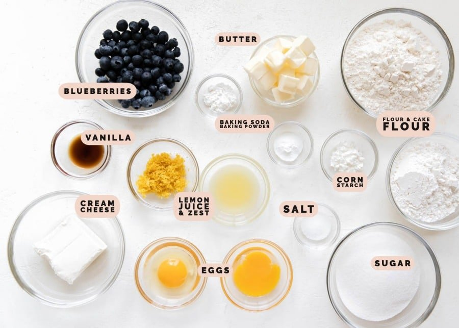 ingredients in small glass bowls