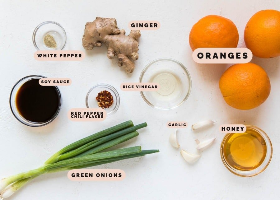 ingredients to make dinner in small glass dishes