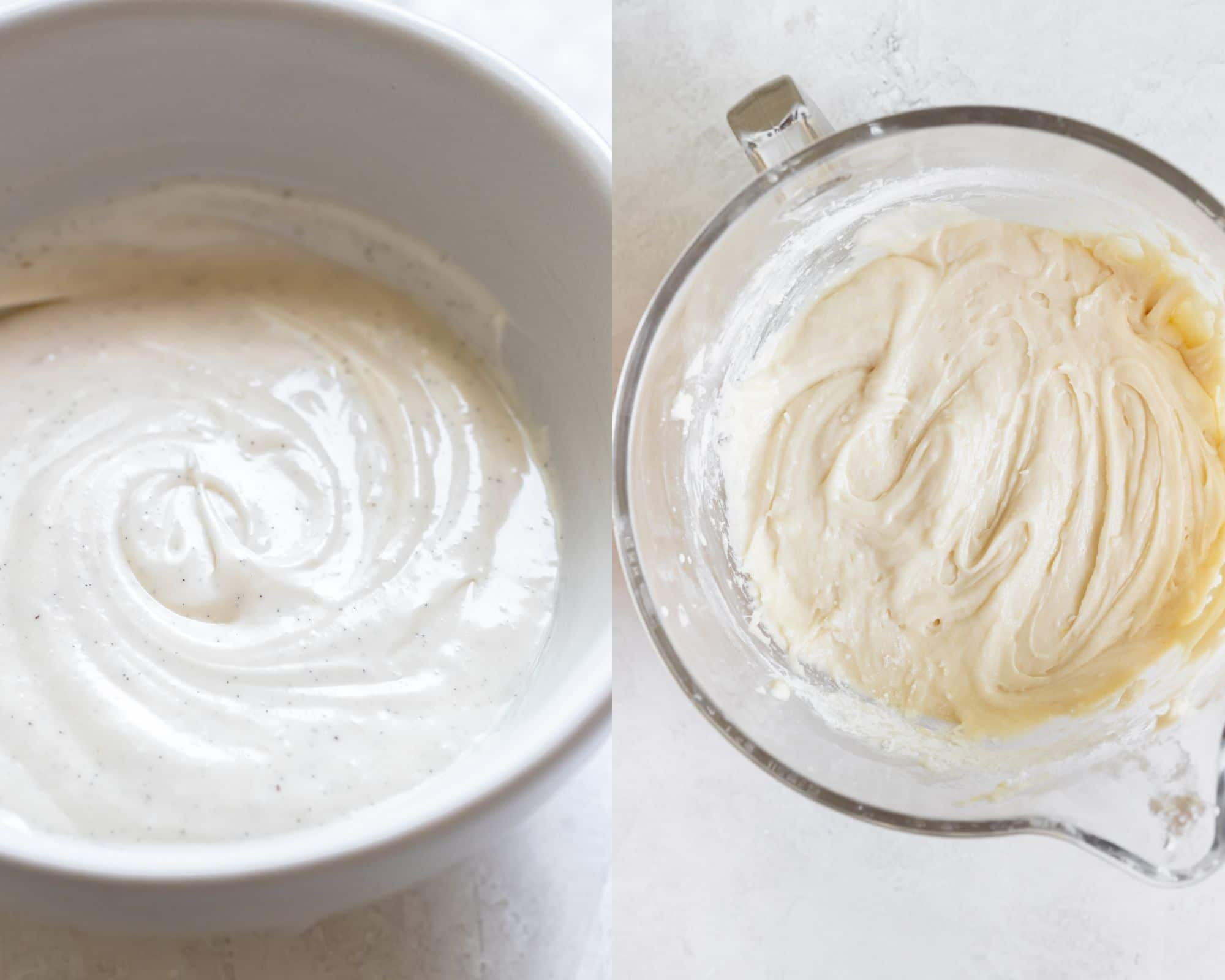 frosting in a white bowl