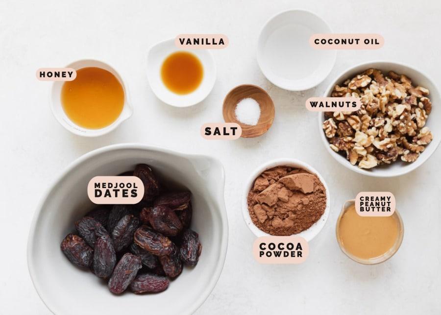 ingredients to make healthy brownies