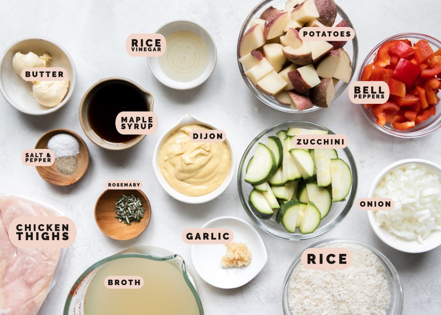 ingredients needed to make a sheet pan meal