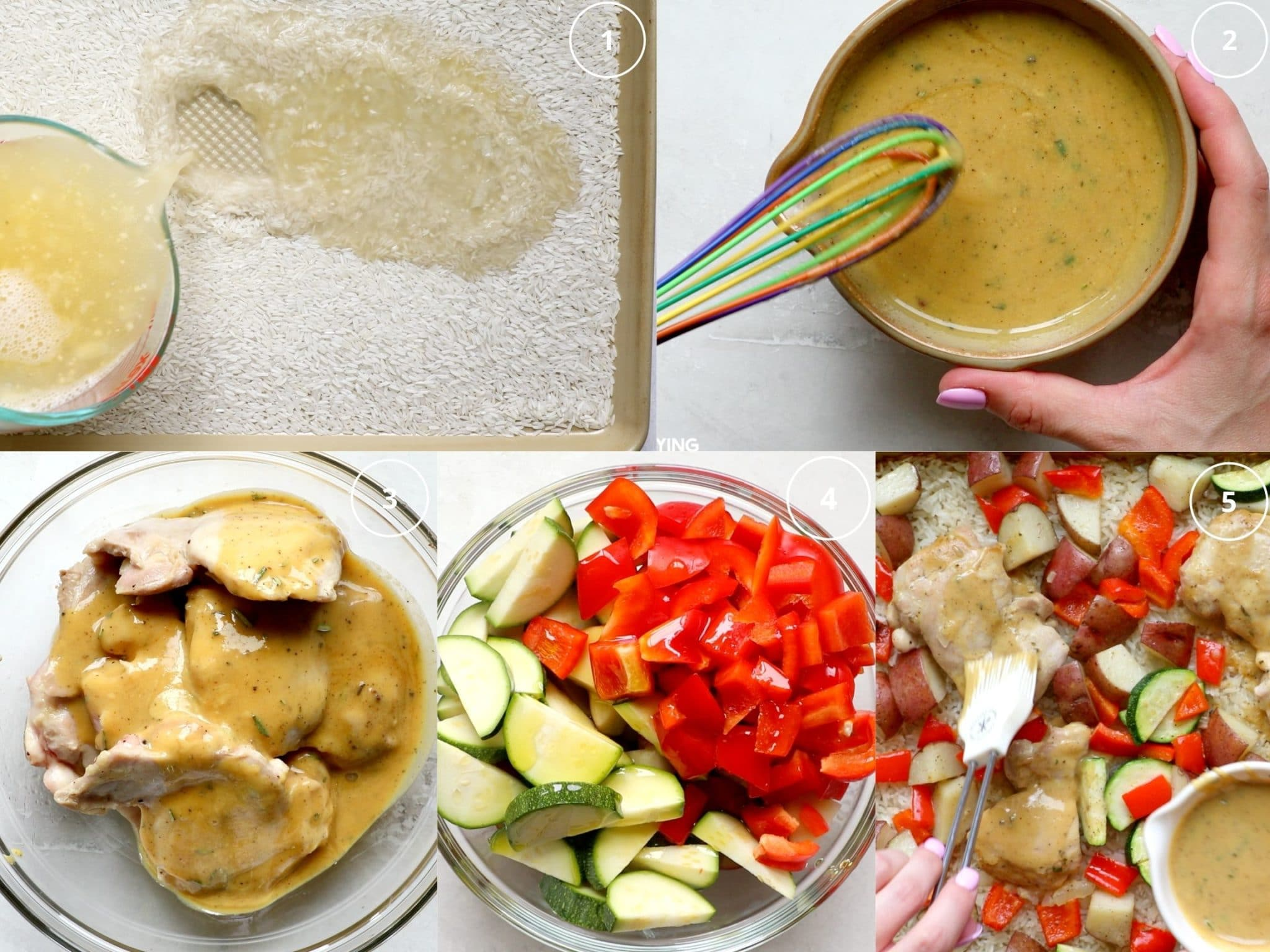 step by step photos making chicken dinner