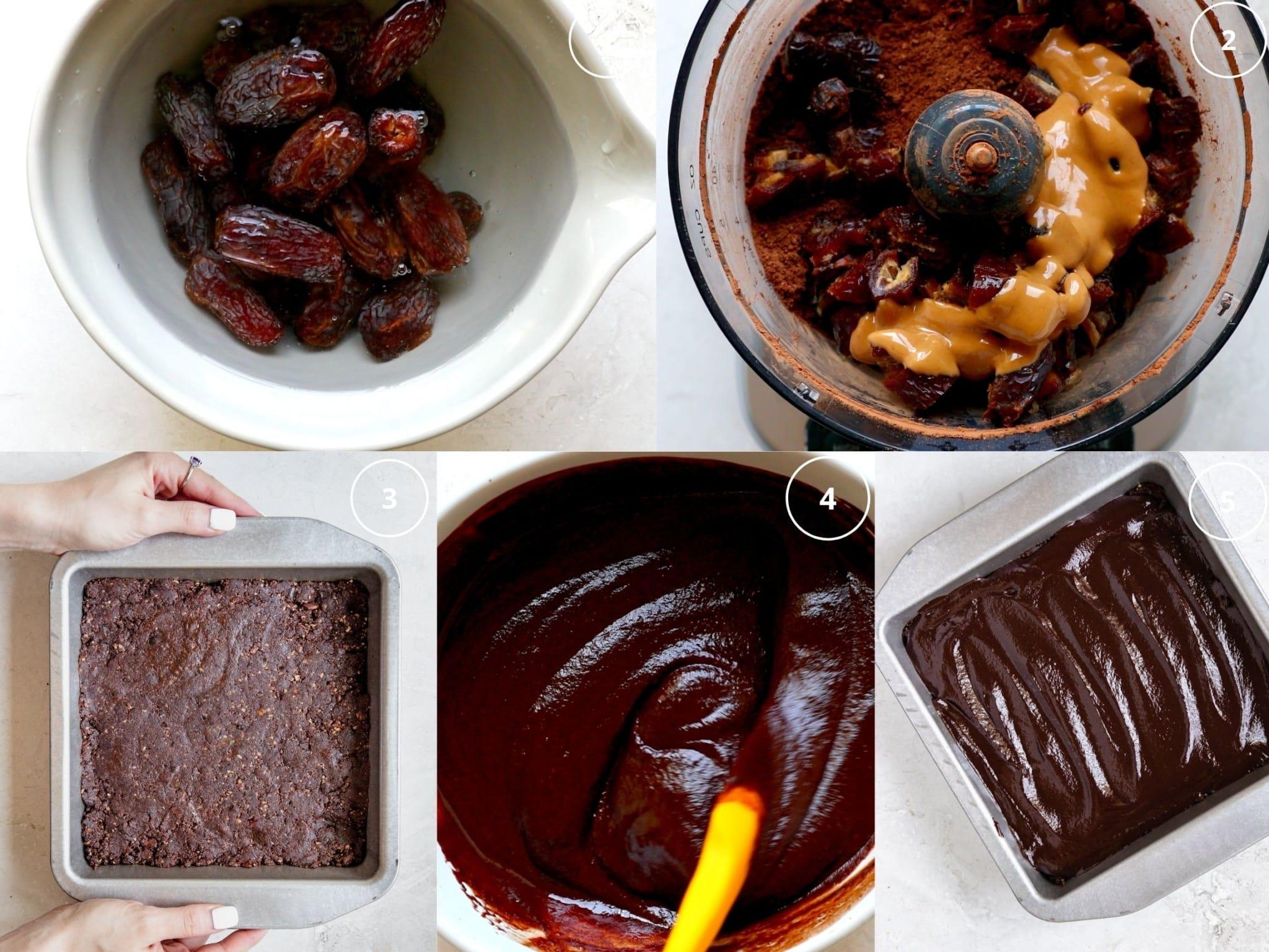 date brownie step by step