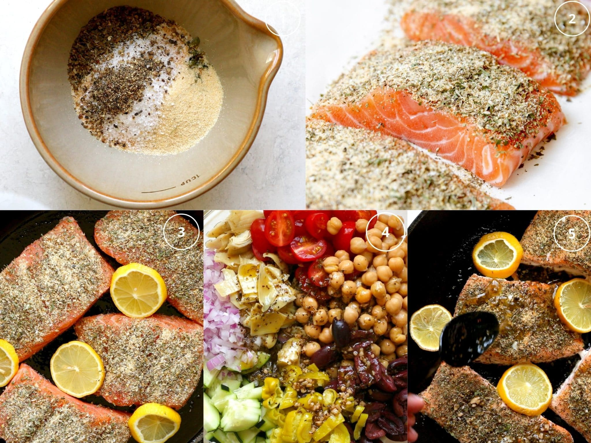 step by step photos making salmon