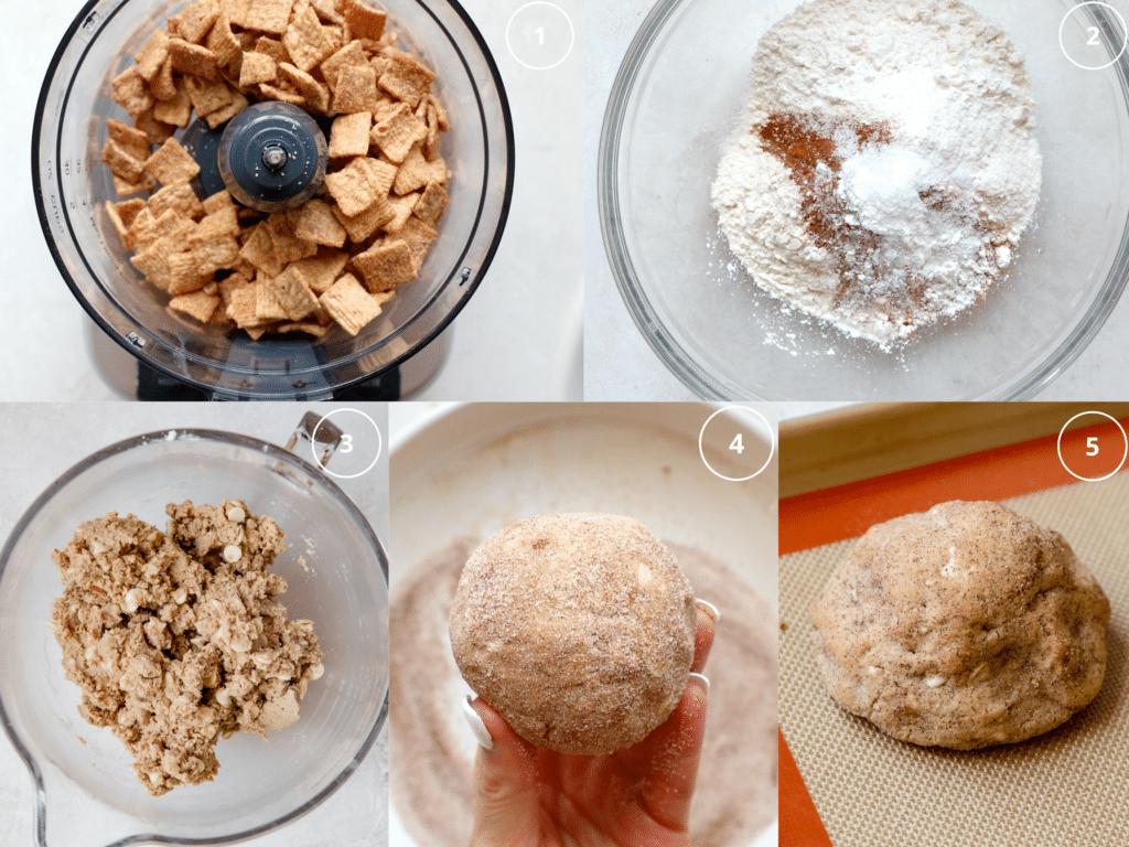 step by step photos making cookies