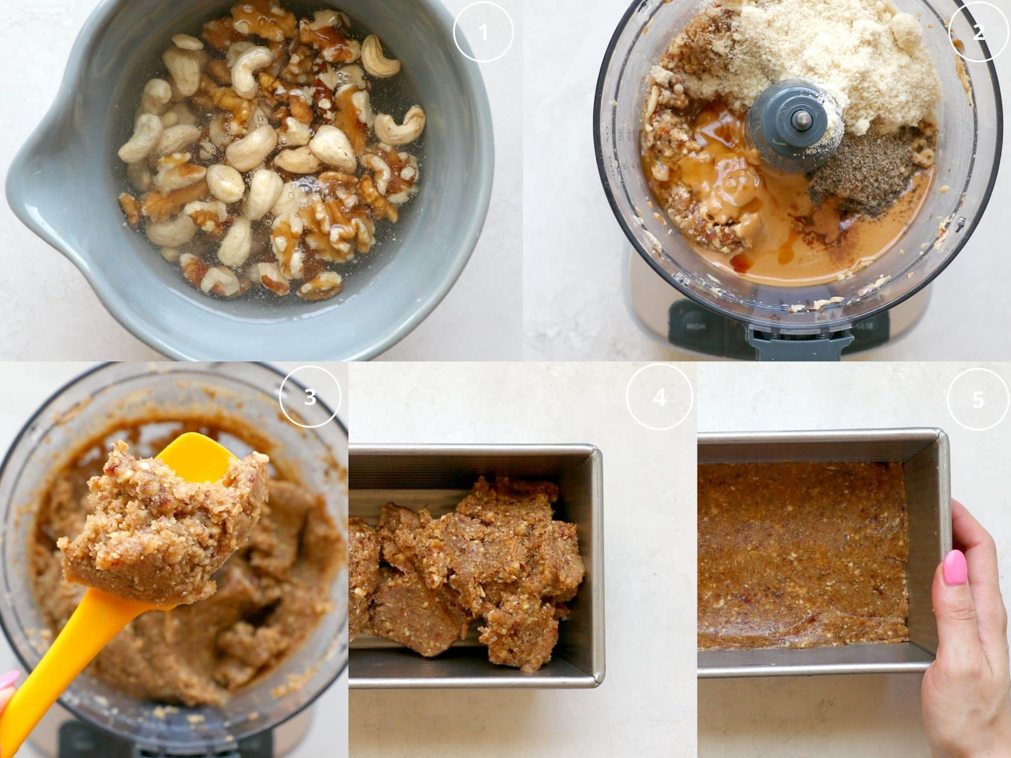 step by step directions making protein bars