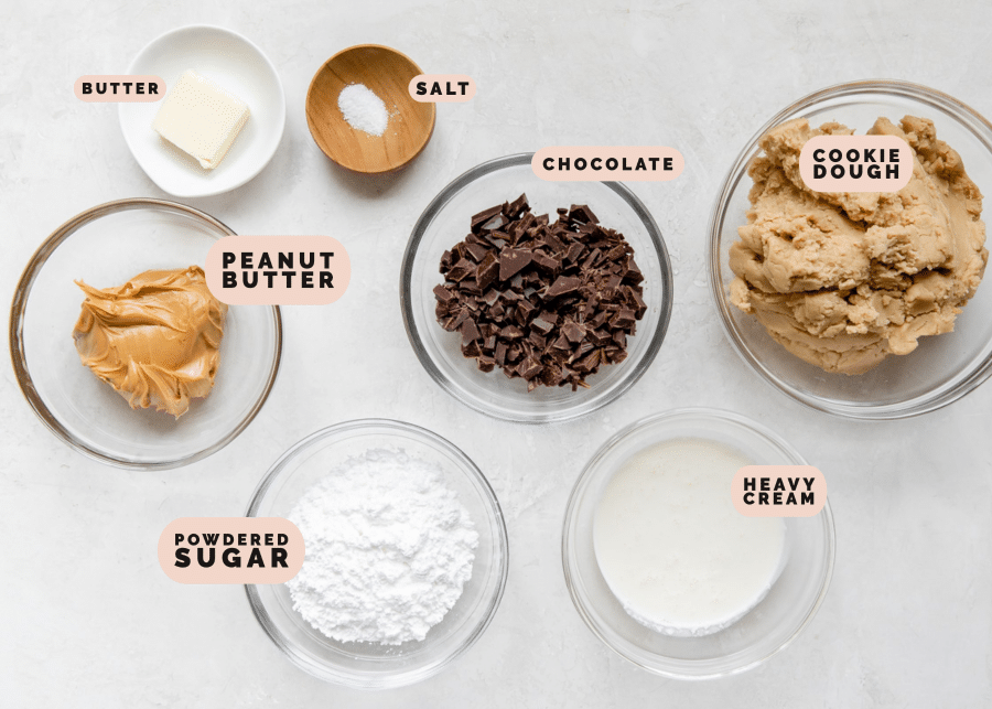 ingredients needed to make peanut butter cup cookies