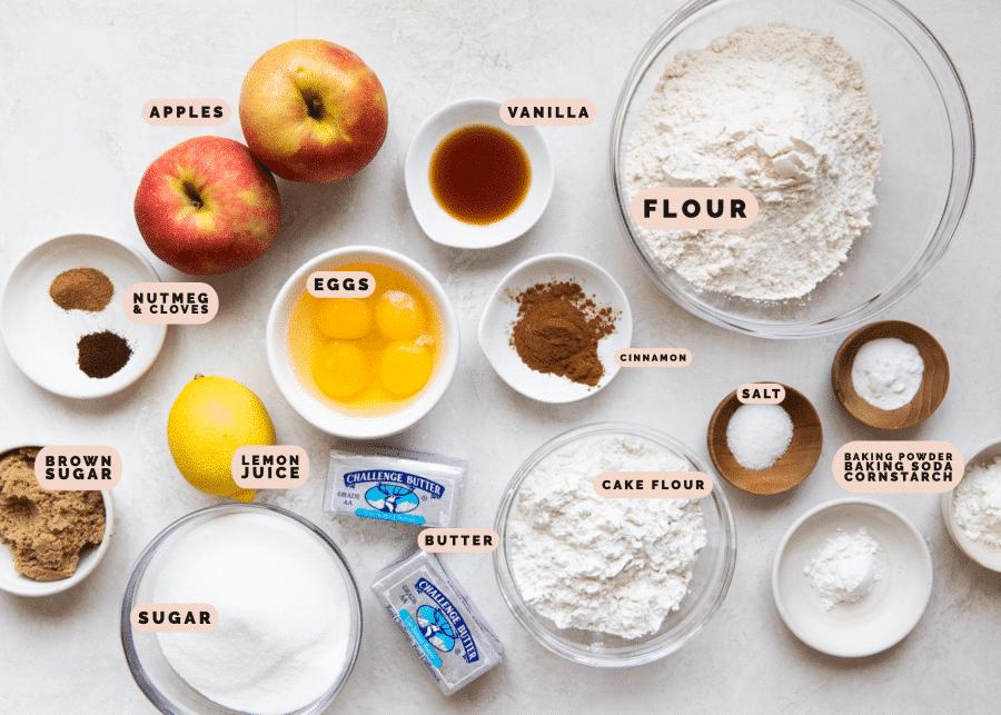 ingredients needed to make apple pie cookies