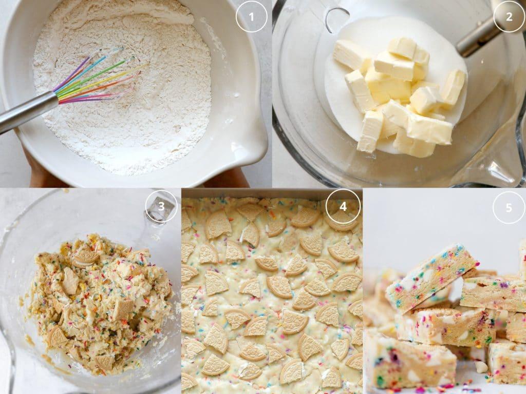 step by step photos making sugar cookie bars