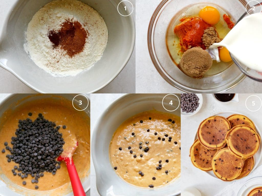 step by step photos making pancakes