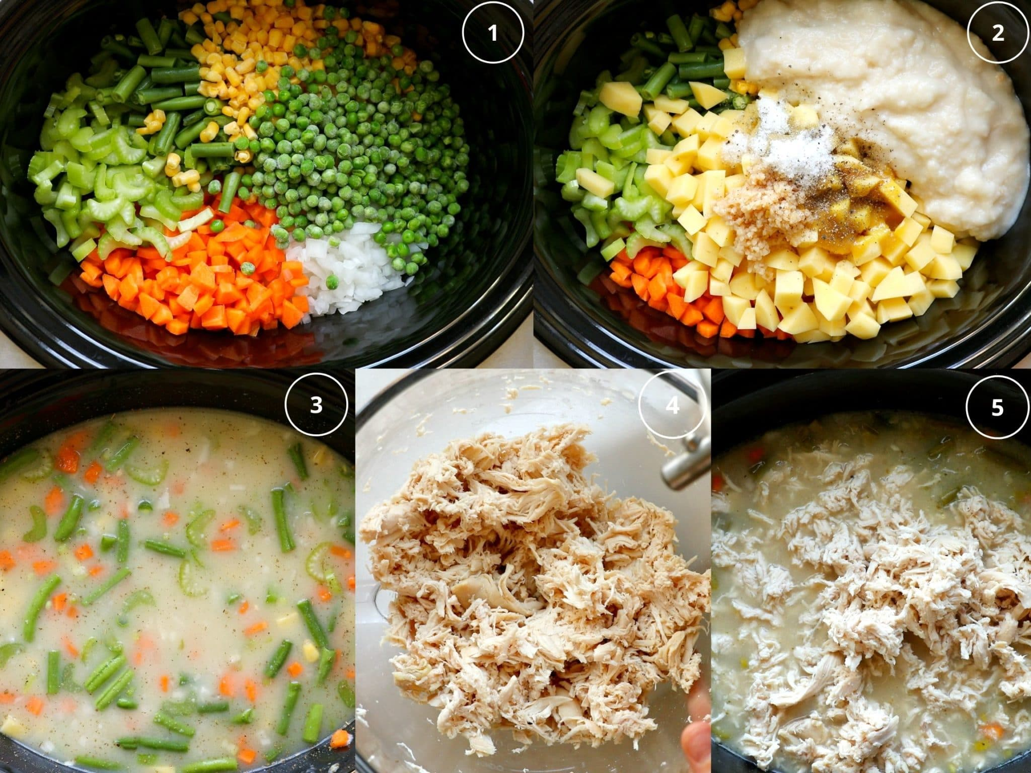step by step photos making pot pie soup